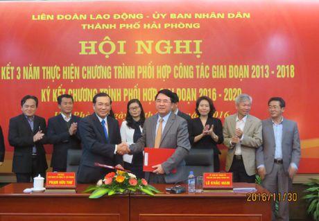 Chuong trinh phoi hop giua UBND va LDLD TP Hai Phong: Chu dong giai quyet van de cua nguoi lao dong - Anh 1