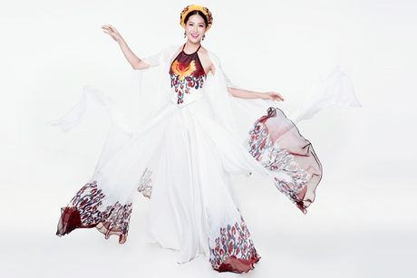 Dieu Ngoc mang vay yem di thi trang phuc truyen thong tai Miss World 2016 - Anh 1