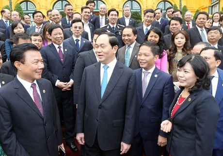 Chu tich nuoc: Doanh nghiep phai bam sat gia tri thuong hieu quoc gia - Anh 1