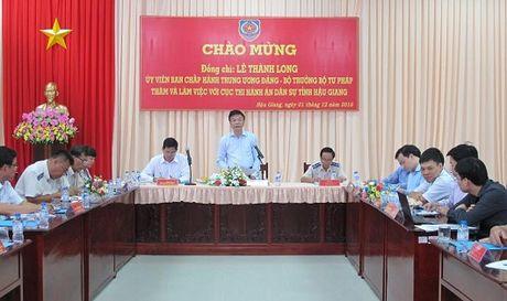 Bo truong Le Thanh Long: Tu phap gop phan quan trong trong phat trien kinh te dia phuong - Anh 1