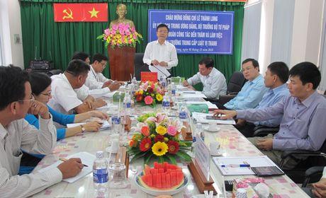 Bo truong Le Thanh Long: Giao duc phap luat phai di sau vao thuc tien - Anh 1