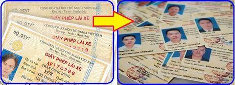 Giay phep lai xe bang vat lieu giay van su dung binh thuong - Anh 1