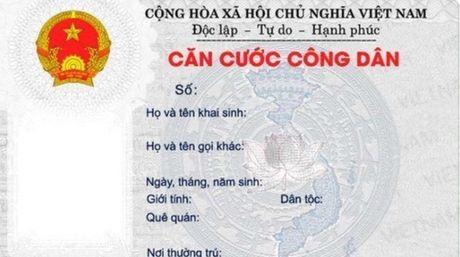 Chinh thuc thu le phi cap moi Can cuoc cong dan - Anh 1