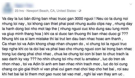 Ha Tran bi to 'ban dung' ban nhac truoc 3000 khan gia nhu the nao? - Anh 3