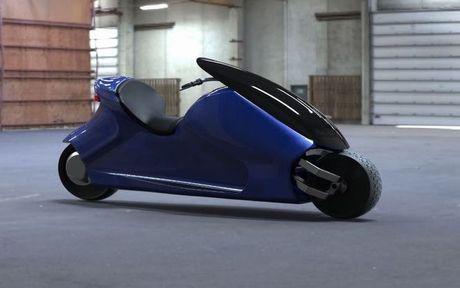 GyroCycle se la xe may tu can bang duoc san xuat dau tien the gioi - Anh 1