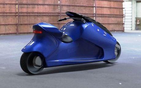 GyroCycle se la xe may tu can bang duoc san xuat dau tien the gioi - Anh 2