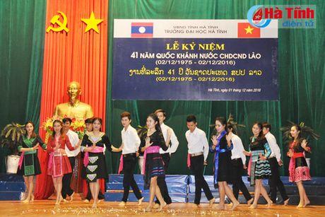 Dai hoc Ha Tinh ky niem 41 nam Quoc khanh CHDCND Lao - Anh 1