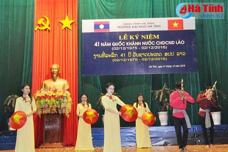 Dai hoc Ha Tinh ky niem 41 nam Quoc khanh CHDCND Lao - Anh 3