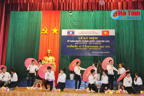 Dai hoc Ha Tinh ky niem 41 nam Quoc khanh CHDCND Lao - Anh 4