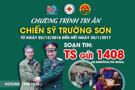 Nhan tin den 1400 ung ho chien si Truong Son va benh nhan ung thu - Anh 1