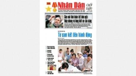 Don doc Nhan Dan cuoi tuan so 49 (Phat hanh tu ngay 2-12-2016 ) - Anh 1