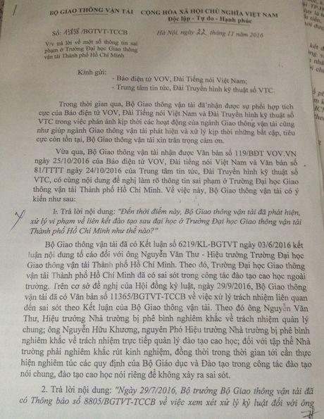 Phe binh nghiem khac hieu truong DH Giao thong van tai TP.HCM - Anh 2