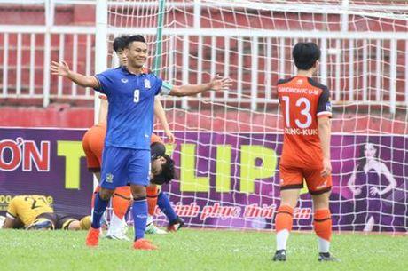 U.21 Thai Lan 6-2 U.21 Gangwon: Chung minh tham vong vo dich - Anh 1