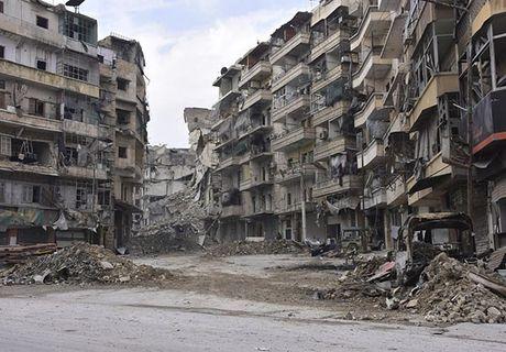 Canh tuong do nat o thanh pho Aleppo sau giai phong - Anh 1
