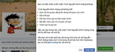 Lam the nao de chan ai do tren Facebook? - Anh 1