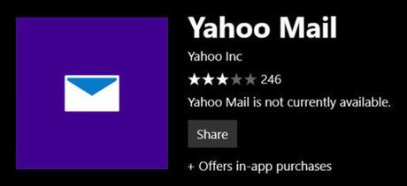 Ung dung Yahoo Mail cho Windows 10 se ngung hoat dong vao tuan toi - Anh 2