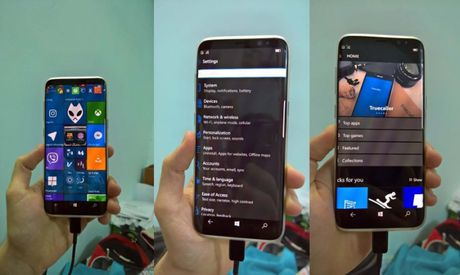 Samsung Galaxy S8 se co phien ban chay Windows 10 Mobile? - Anh 1