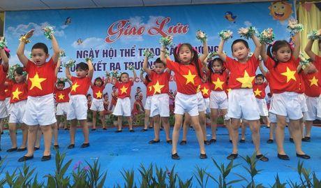 Ha Tinh: Tung bung 'Ngay hoi the thao' tai Truong mam non Binh Ha - Anh 1