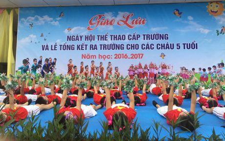 Ha Tinh: Tung bung 'Ngay hoi the thao' tai Truong mam non Binh Ha - Anh 2