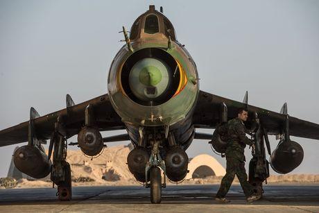 May bay Syria bi My ban ha khong he tan cong SDF - Anh 1