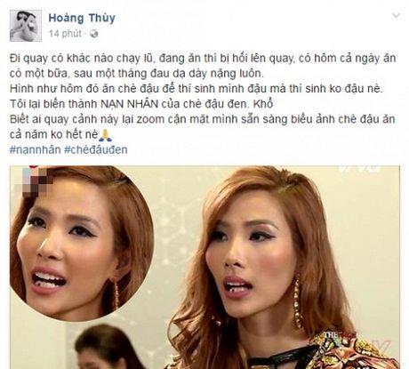 Hoang Thuy trai long ve su co quen xia rang o The Face - Anh 1