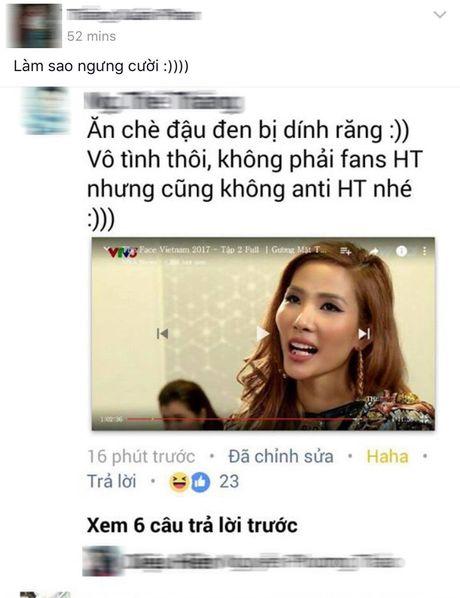 Hoang Thuy trai long ve su co quen xia rang o The Face - Anh 2