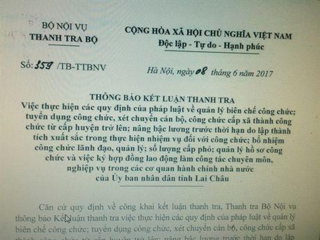 De nghi Lai Chau thu hoi 29 quyet dinh tuyen dung can bo - Anh 1