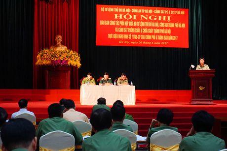 Phoi hop chat che giua Cong an Ha Noi, Bo Tu lenh Thu do, Canh sat PCCC - Anh 1