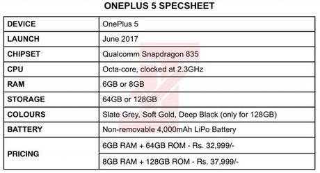 OnePlus 5 se dung Snapdragon 835, pin 4000 mAh - Anh 3