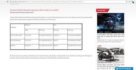 Yamaha Viet Nam bat ngo thay mien phi phuoc sau cho xe NVX - Anh 1