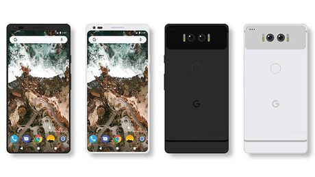 Y tuong thiet ke Google Pixel 2 lay cam hung tu LG G6 - Anh 1