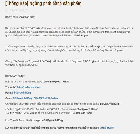 Vega Game dong cua Lu Bo Truyen trong thang 6 - Anh 4