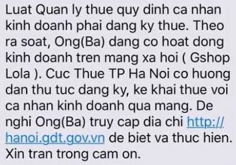 Ha Noi yeu cau 13.422 nguoi kinh doanh tren Facebook ke khai thue - Anh 1