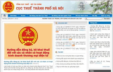 Ha Noi yeu cau 13.422 nguoi kinh doanh tren Facebook ke khai thue - Anh 2