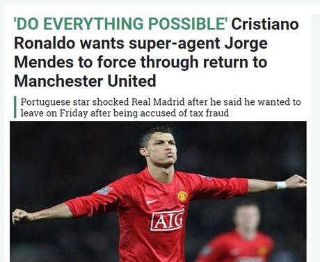 Ronaldo tuyet vong: 'Hay lam moi cach giup toi tro lai MU' - Anh 1
