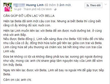 Co gai Sai Gon san sang bo 100 trieu chi de xin nuoi con trai 'thanh quyt tien' Bella - Anh 2