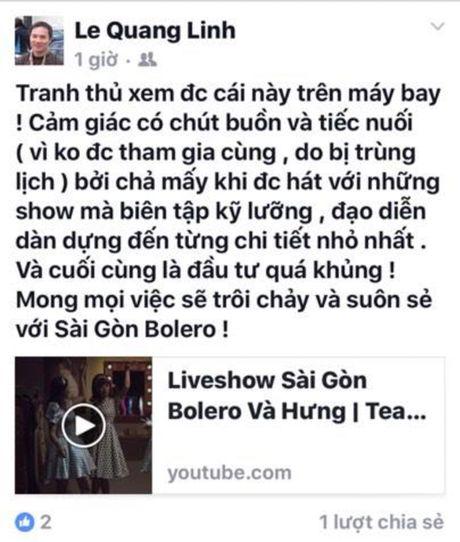 Thu Minh hao huc voi liveshow Bolero 'khung' cua Dam Vinh Hung - Anh 2