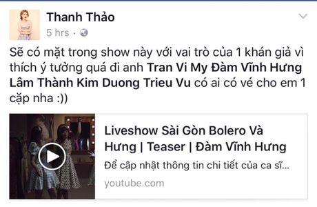 Thu Minh hao huc voi liveshow Bolero 'khung' cua Dam Vinh Hung - Anh 3