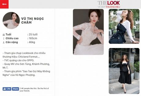 Tham gia phut chot, 'nguoi yeu Son Tung' Vu Ngoc Cham vuon len dan dau vong binh chon The Look Online 2017 - Anh 1