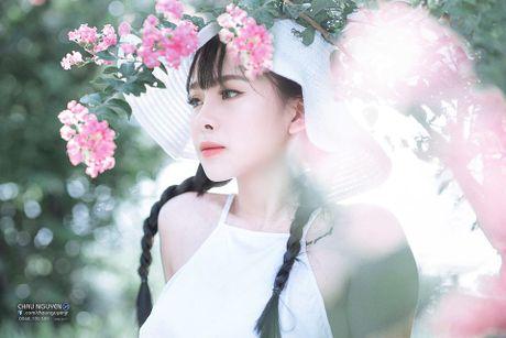 Gai xinh Tuyen Quang khoe lung tran nuot na ben hoa tuong vi - Anh 3