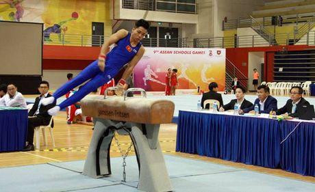 9th ASEAN Schools Games: Xuat sac cac van dong vien the duc - Anh 1
