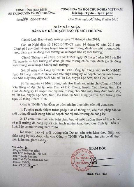 Hoa Binh: Du an thuy dien Suoi Mu 'tron' bao cao danh gia moi truong - Anh 3