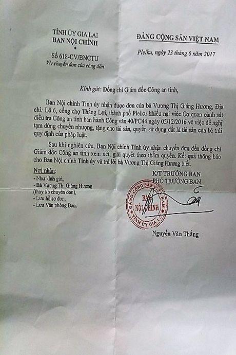Gia Lai: Hai van ban de nghi tam dung chuyen nhuong, cho tang tai san va QSDD co nhieu nghi van??? - Anh 2