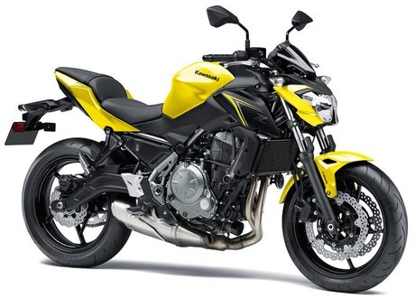 Naked bike tam trung Kawasaki Z650 2018 nhan them mau son moi - Anh 1