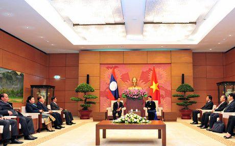 Chu tich Quoc hoi Viet Nam tiep Pho Chu tich nuoc CHDCND Lao - Anh 2