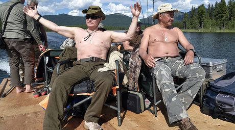 Tong thong Putin coi tran nghi mat tai Siberia - Anh 1