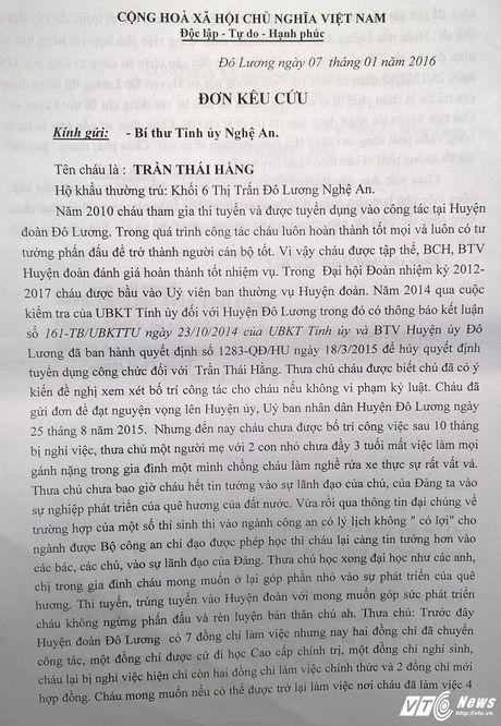 Nu can bo doan bi duoi viec oan: 'Toi muon lay lai danh du chu khong can mot cong viec bo thi' - Anh 3