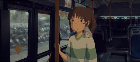 Bat ngo cac nhan vat hoat hinh Ghibli do bo khap pho phuong Ha Noi - Anh 2