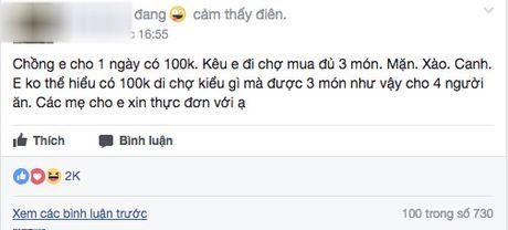 Than tho chong dua 100 nghin/ngay doi com 3 mon 4 nguoi, co vo khong ngo duoc chi cho tram cach nau - Anh 2