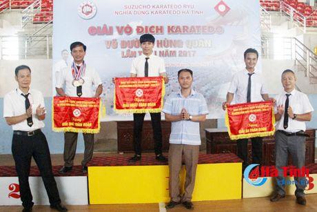 CLB Karatedo Trung tam TDTT Ha Tinh gianh giai Nhat toan doan - Anh 1